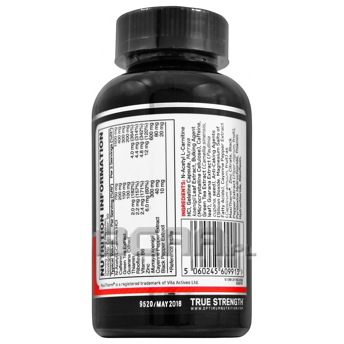 Thermo Cuts Optimum Nutrition 100kaps