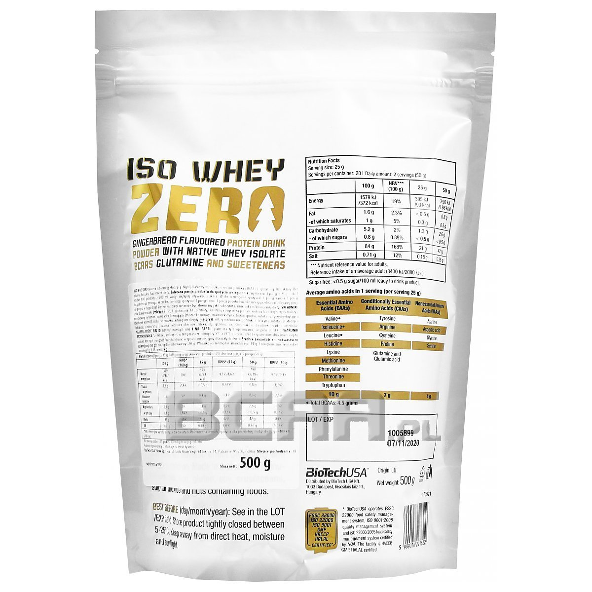 iso whey zero christmas special biotech usa 500g promocja. Black Bedroom Furniture Sets. Home Design Ideas
