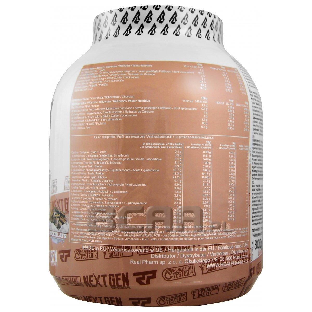 3b95425e2d2c Beef Protein Real Pharm 1800g • Sklep BCAA.pl