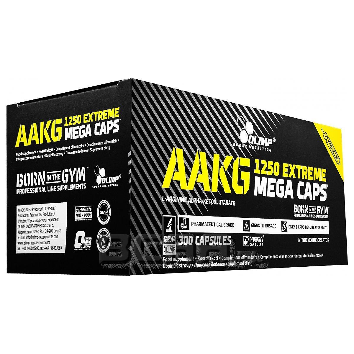 49c2c52adcd AAKG 1250 Extreme Mega Caps Olimp 300kaps. [promocja] • Sklep BCAA.pl