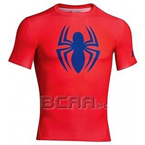 Under Armour Men's HeatGear Alter Ego Compression  Short Sleeve Spiderman czerwony 1/1