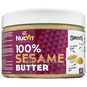 NutVit 100% Sesame Butter Smooth 500g 1/1