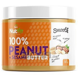 NutVit 100% Peanut + Sesame Butter Smooth 500g 1/1