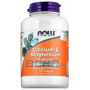 Now Foods Calcium & Magnesium with Vitamin D and Zinc 120kaps. 1/1