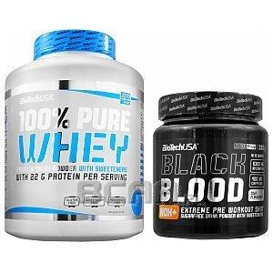 BioTech USA 100% Pure Whey + Black Blood NOX+ 2270g+330g 1/4