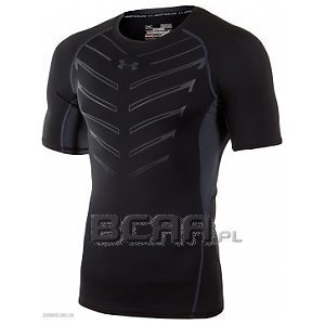Under Armour Rashguard Męski HeatGear Exo Shortsleeve 1260044-001 czarny 1/3