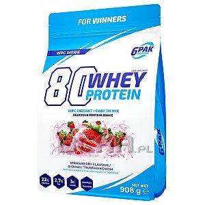 6Pak Nutrition 80 Whey Protein 908g 1/1