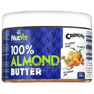 NutVit 100% Almond Butter Crunchy 500g 1/1