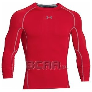 Under Armour Rashguard Męski Heatgear Armour Compression Longsleeve 1257471-600 czerwony 1/6