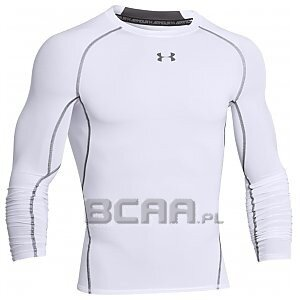 Under Armour Rashguard Męski Heatgear Armour Compression Longsleeve 1257471-100 biały 1/5
