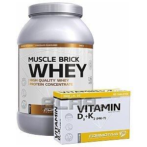 Formotiva Muscle Brick Whey + Vitamin D3+K2 1000g+60tab. [promocja] 1/3
