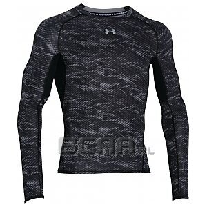 Under Armour Koszulka Męska Heatgear Armour Printed Longsleeve Compression Shirt 1258896-004 szary 1/8