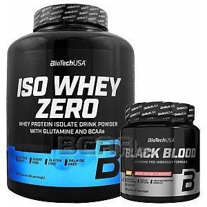 BioTech USA Iso Whey Zero + Black Blood NOX+ 2270g+330g [promocja] 1/3