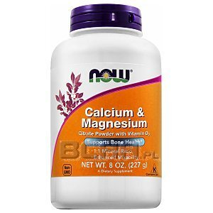 Now Foods Calcium & Magnesium Citrate Powder with Vitamin D3 227g 1/2