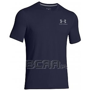 Under Armour Koszulka Męska Charged Cotton® Sportstyle Left Chest Logo T 1257616-410 granatowy 1/7