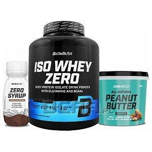 BioTech USA Iso Whey Zero + Peanut Butter + Zero Syrup 2270g+1kg+320ml 1/1