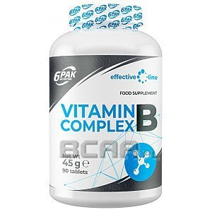 6Pak Nutrition Effective Line Vitamin B Complex 90tab. 1/1
