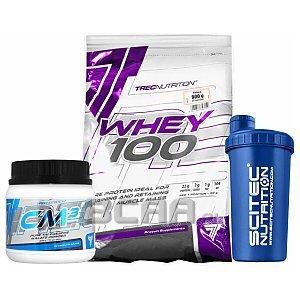 Trec Whey 100 + CM3 Powder + Shaker 900g+250g+700ml [promocja] 1/4