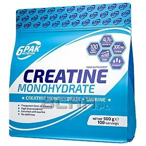 6Pak Nutrition Creatine Monohydrate 500g Pure 1/1