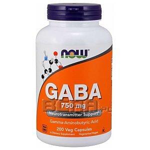 Now Foods GABA 750mg 200vkaps. 1/1
