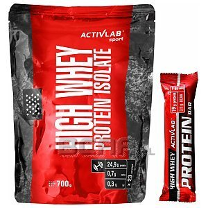Activlab High Whey Protein Isolate + High Whey Protein Bar 700g + 80g [promocja] 1/1