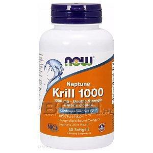 Now Foods Krill Oil Neptune 1000mg 60kaps. 1/1