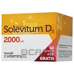 Solevitum D3 2000 60kaps.+15kaps. GRATIS! 1/3