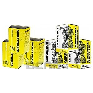 Iridium Labs Somatodrol + Cerberus 3 x 60kaps. + 3 x  60kaps. 1/1