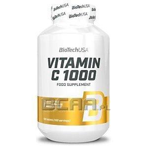 BioTech USA Vitamin C 1000 Rose Hips & Bioflawonoids 100tab. 1/1
