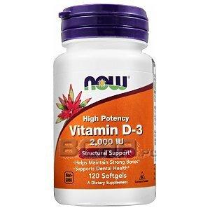 Now Foods Vitamin D3 2000IU 120kaps. [promocja] 1/1