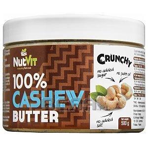 NutVit 100% Cashew Butter Crunchy 500g 1/1
