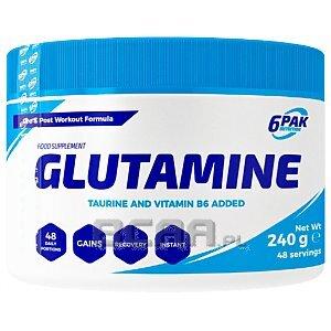 6Pak Nutrition Glutamine 240g 1/1