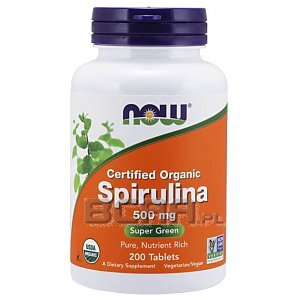Now Foods Organic Spirulina 500mg 200tab. 1/1