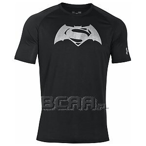 Under Armour Rashguard Męski Alter Ego Superman vs. Batman Tech SS T 1273663-001 czarny 1/6