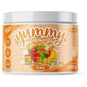 6Pak Nutrition Yummy Fruits in Jelly 600g Peach 1/1