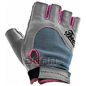 Trec Rękawice treningowe Fitness (damskie) szaro-różowe 1/1