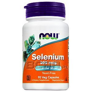 Now Foods Selenium 200mcg 90kaps 1/2