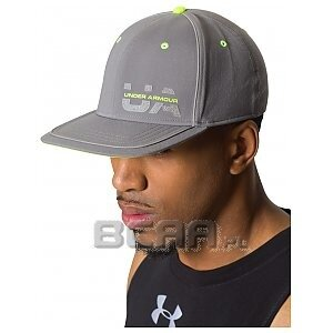 Under Armour Czapka Flash Pop Stretch Fit Cap 1254131-040 szary 1/1