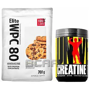 100% LABS Elite WPC 80 Instant + Universal Creatine Monohydrate Micronized 700g+500g [promocja] 1/4