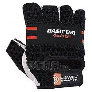 Power System Rękawiczki Treningowe Basic Evo (PS-2100) czarne z czerwonym paskiem 1/1