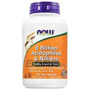 Now Foods 8 Billion Acidophilus & Bifidus 120kaps. 1/1
