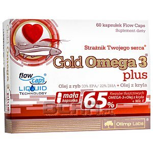 Olimp Gold Omega 3 Plus 60kaps. 1/1