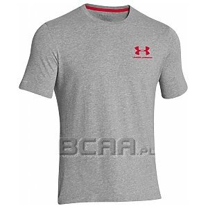 Under Armour Koszulka Męska Charged Cotton® Sportstyle Left Chest Logo T 1257616-025 szary 1/6