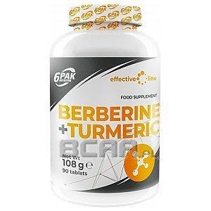 6Pak Nutrition Effective Line Berberine + Turmeric 90tab. 1/1
