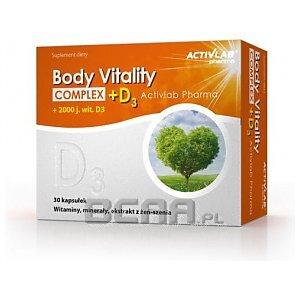 Activlab Pharma Body Vitality Complex + D3 30kaps. 1/1