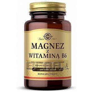 Solgar Magnez + Witamina B6 100tab. 1/1