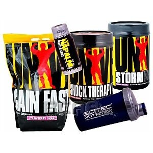 Universal MegaMasa Gain Fast + Shock Therapy + Storm + Gratisy! 4550g + 840g + 836g 1/1