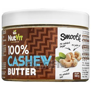 NutVit 100% Cashew Butter Smooth 500g 1/1