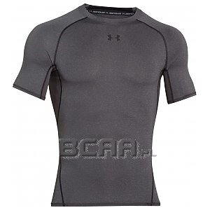 Under Armour Koszulka Męska Heatgear Armour Compression SS 1257468-090 ciemnoszary 1/3