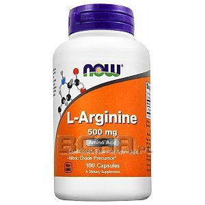 Now Foods L-Arginine 500mg 100kaps. 1/1